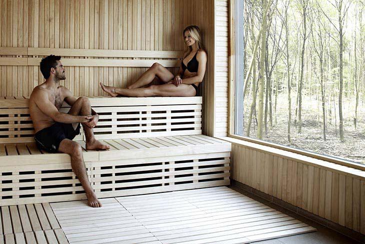 par i sauna på Comwell Borupgaard