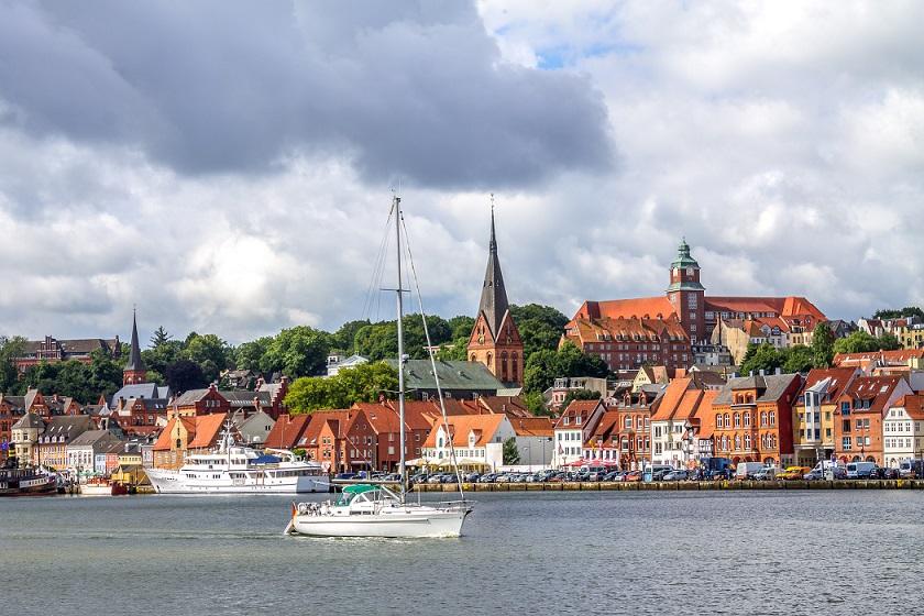 Udsigt over Flensborg set fra havet