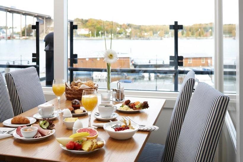 morgenmad på Waterfront Gøteborg med udsigt