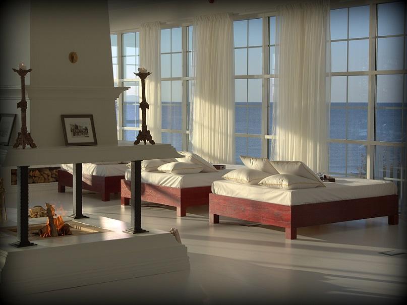 udsigt over havet fra spa på ystad saltsjöbad