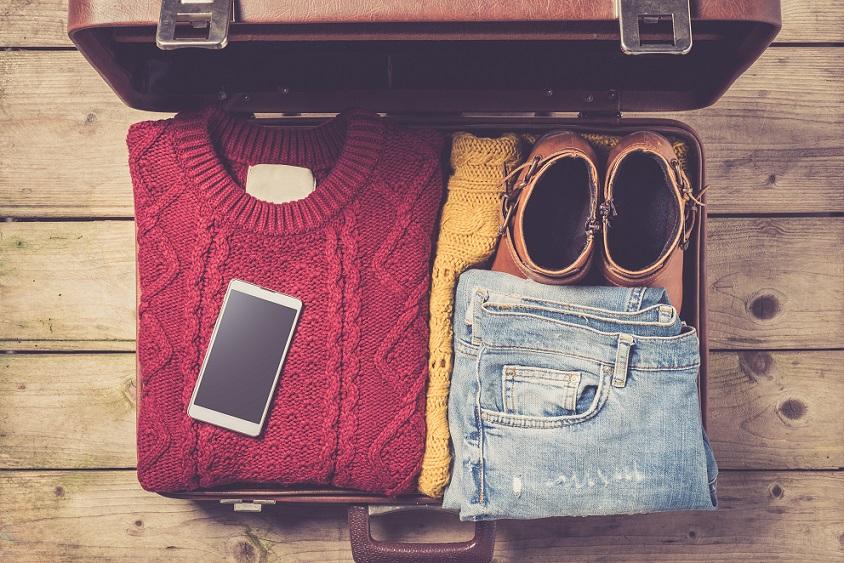 rejsetøj i kuffert