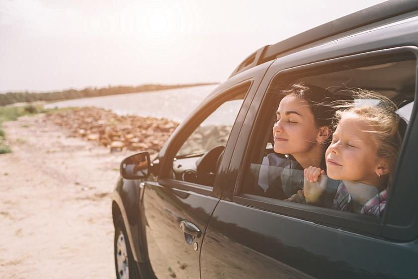 mor og datter på kør-selv-ferie