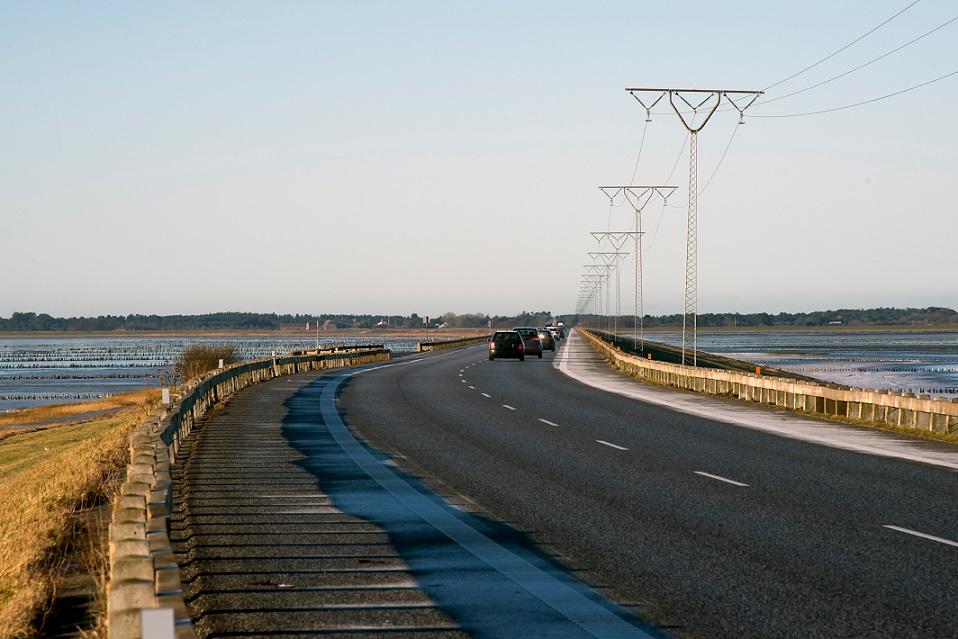 bil på dansk landevej
