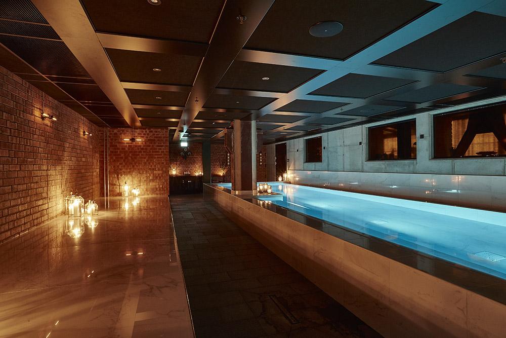 en af de afslappende pools på steam hotel