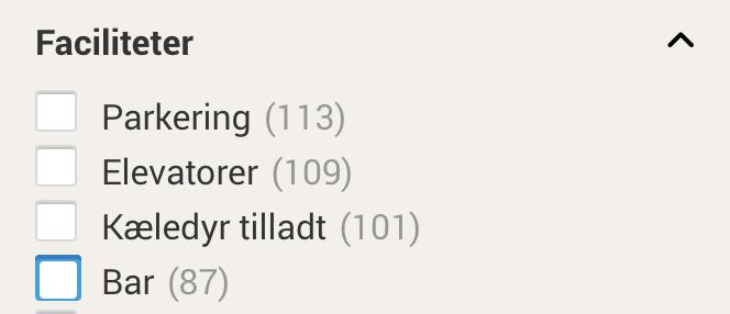 sådan vælger du faciliteter på hotelspecials.dk