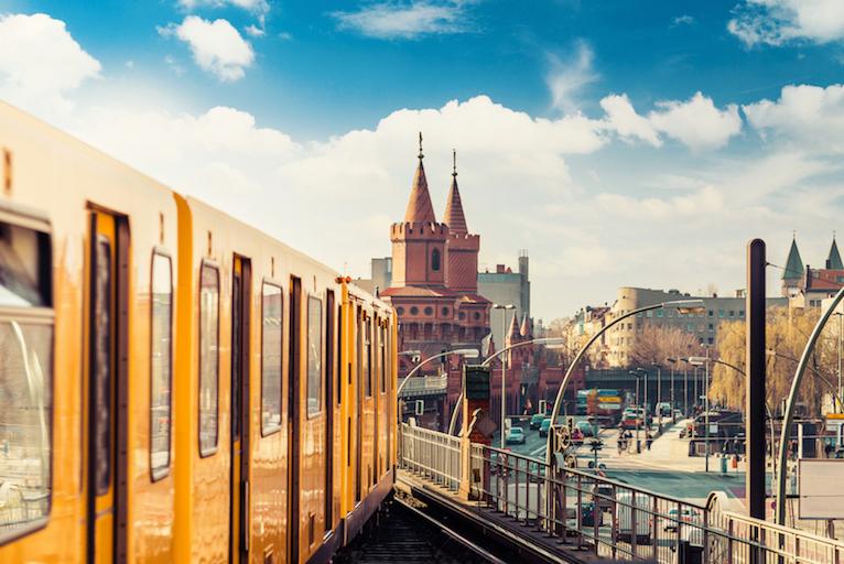 udsigt over Kreuzberg set fra toget
