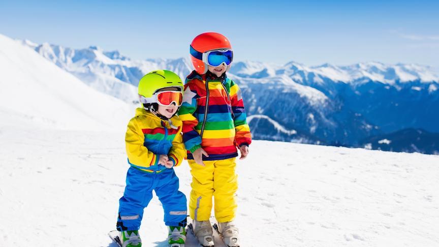børn på skibakke