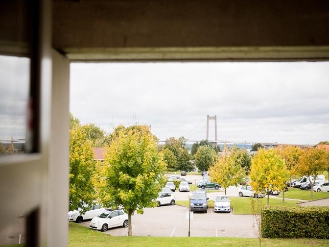 udsigt til Lillebæltsbroen fra Comwell Middelfart