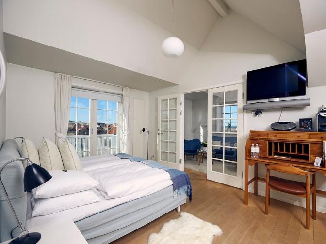 værelse med udsigt på Ruths Hotel i Skagen