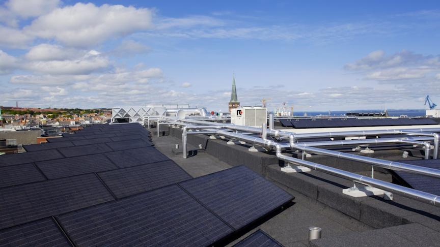 udsigt over Aarhus fra taget af Scandic Aarhus City